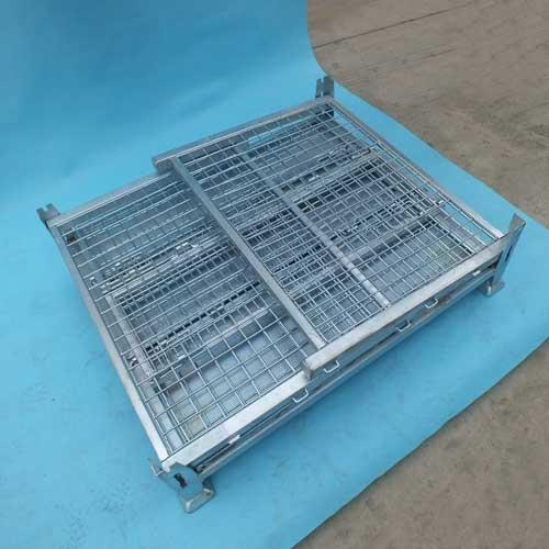Steel Folding Wire Mesh Pallet Metal Stillage Cage