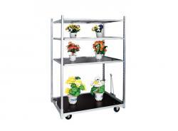 Steel Warehouse Flower Shelf Carts