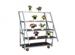 Metal Steel Danish Nursery Flower Trolley Carts
