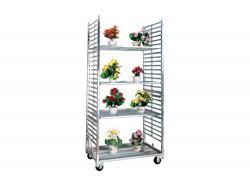 Display Flower Greenhouse Trolley